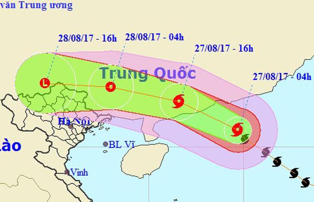 Bão số 7 hướng vào Trung Quốc, miền Bắc sắp mưa lớn 4 ngày