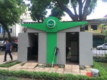 Lắp đặt nhà vệ sinh công cộng: Chậm tiến độ vì còn vướng mắc