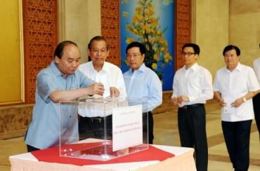 Văn phòng Chính phủ quyên góp ủng hộ đồng bào Miền trung