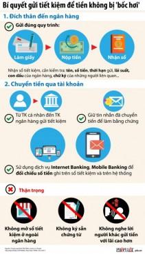 Infographic: Bí quyết gửi tiền tiết kiệm không bị 'bốc hơi'