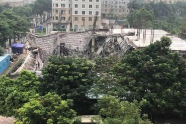 Hà Nội: Trường mầm non đang xây bị sập trong đêm