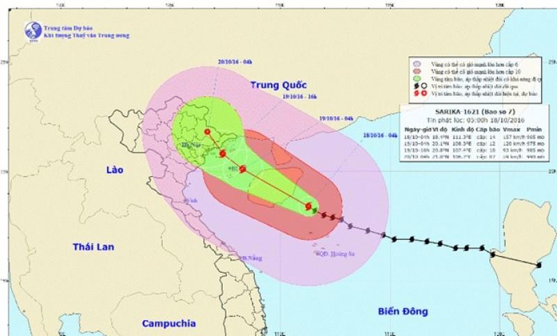 Bão số 7 giật cấp 14 tiến vào vùng ven biển Quảng Ninh-Hải Phòng