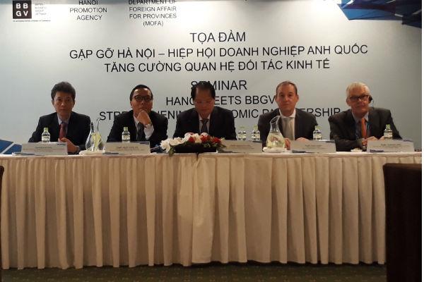 Hà Nội tăng cường quan hệ đối tác kinh tế với các doanh nghiệp Anh quốc