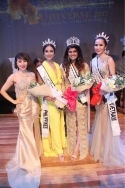 Diễn viên Bella Mai đăng quang Á hậu 1 Hoa hậu Du lịch hoàn vũ thế giới 2017