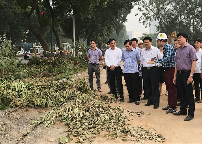Chủ tịch UBND TP Hà Nội Nguyễn Đức Chung kiểm tra đột xuất dự án mở rộng đường Vành đai 3