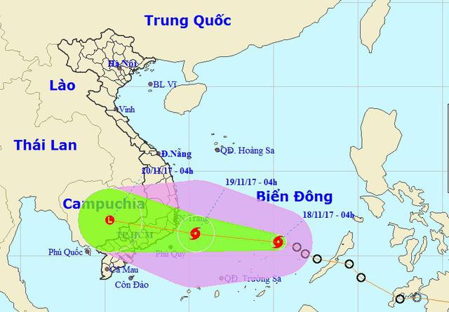 Hình thành bão số 14 trên Biển Đông