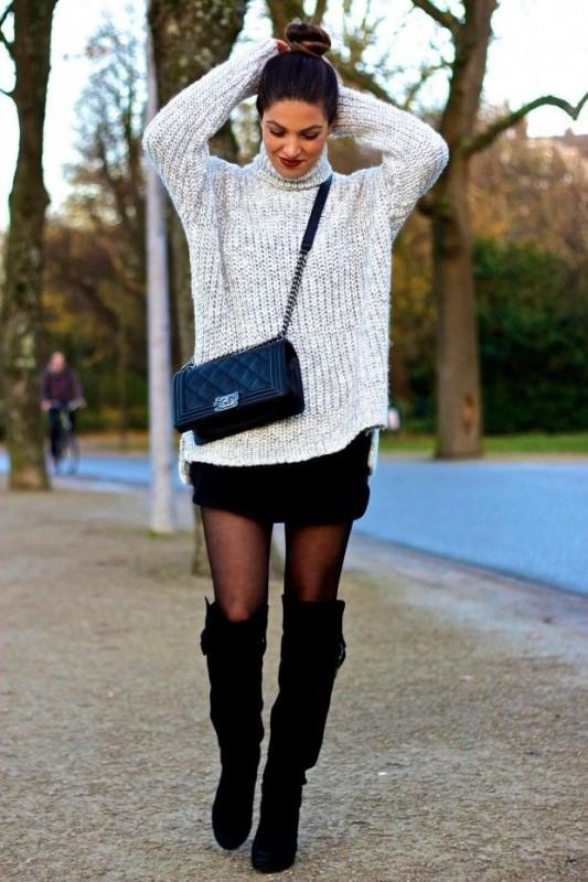Công thức đẹp với áo len oversize cho những ngày đông 10 độ