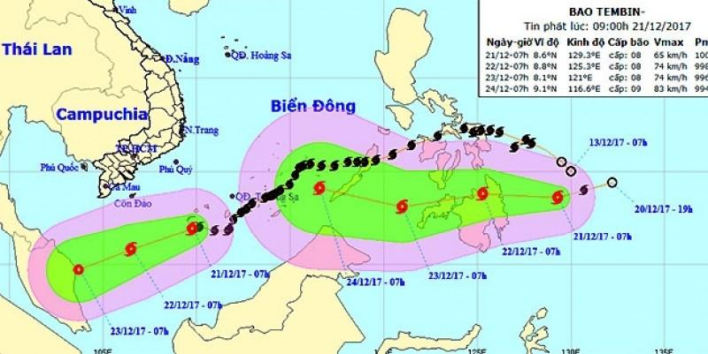 Bão số 15 suy yếu, xuất hiện bão mới gần Biển Đông