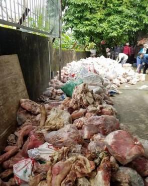Phát hiện 15 tấn nội tạng động vật hôi thối để nuôi cá trê lai