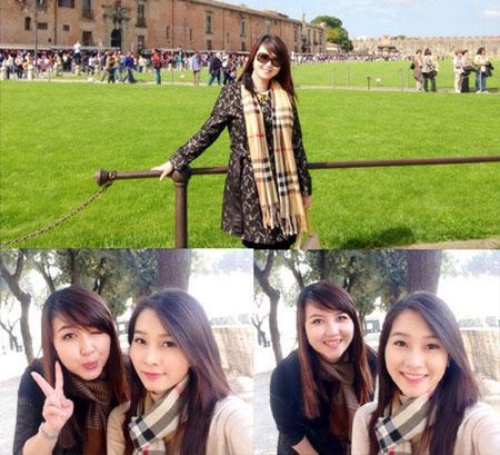 Hoa hậu Đặng Thu Thảo và chị gái thường xuyên đi du lịch và chụp ảnh cùng nhau