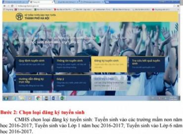 Hà Nội:  Tỷ lệ đăng ký tuyển sinh  trực tuyến đầu cấp tăng