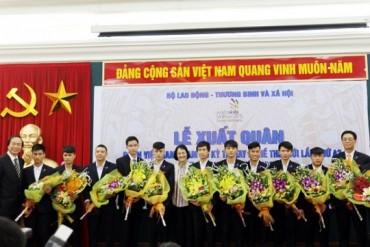 Lễ xuất quân của Đoàn Việt Nam tham dự Kỳ thi tay nghề thế giới