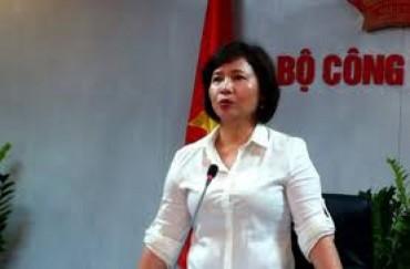 Bà Hồ Thị Kim Thoa bị miễn nhiệm chức vụ Thứ trưởng Bộ Công Thương