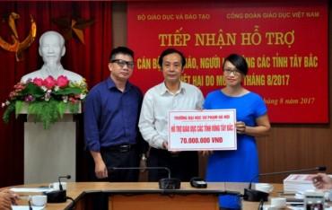 Công đoàn Giáo dục Việt Nam ủng hộ nhà giáo các tỉnh bị thiệt hại do mưa lũ