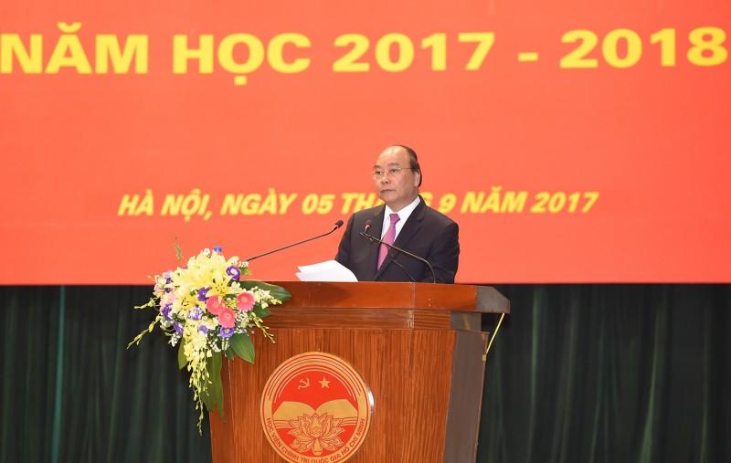 Thủ tướng dự lễ khai giảng năm học mới 2017-2018