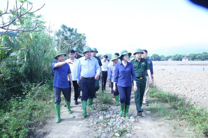 Phó Thủ tướng Thường trực chỉ đạo khắc phục hậu quả mưa lũ ở Yên Bái