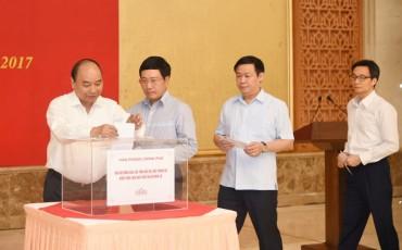 Văn phòng Chính phủ quyên góp ủng hộ đồng bào khắc phục hậu quả mưa lũ
