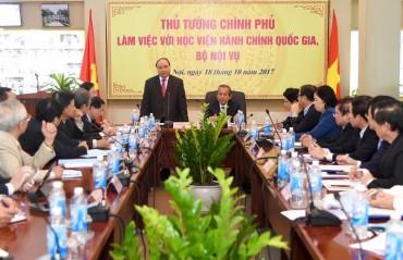 Thủ tướng dự lễ khai giảng của Học viện Hành chính Quốc gia