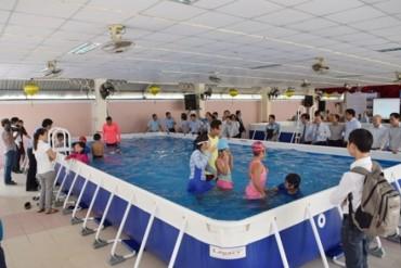 Phấn đấu đến năm 2020, 100% trường học có bể bơi