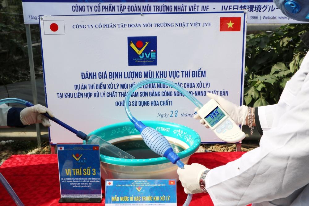 Bãi rác Nam Sơn giảm mùi trên 90 % sau 7 ngày xử lý bằng công nghệ Nhật Bản