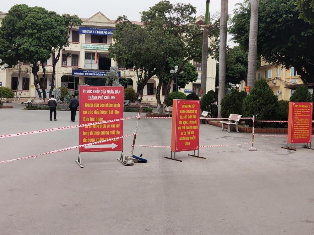 Trung tâm Y tế thành phố Chí Linh có sức chứa khoảng 200 bệnh nhân Covid-19