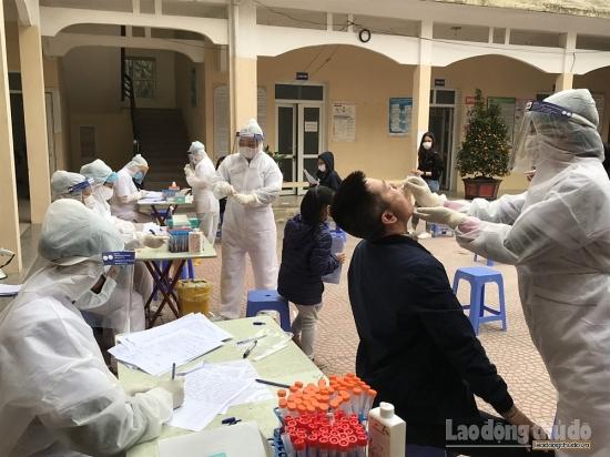 Hơn 1.400 người từ huyện Cẩm Giàng về Hà Nội có kết quả xét nghiệm âm tính với SARS-CoV-2