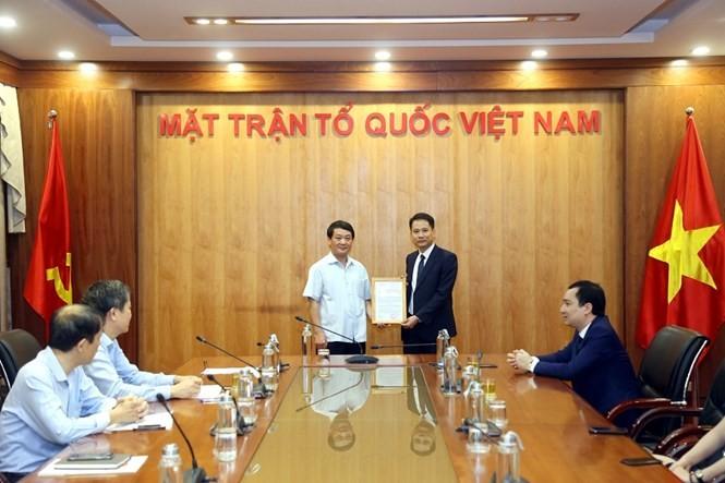 Ông Trương Thành Trung được bổ nhiệm làm Phó Tổng Biên tập Tạp chí Mặt trận
