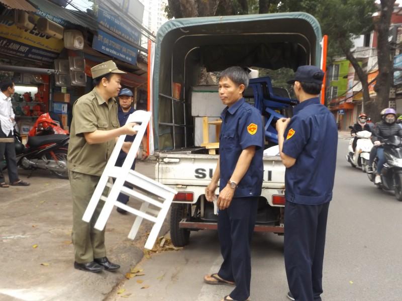Phường Thành Công (quận Ba Đình): Ra quân thiết lập lại trật tự đô thị