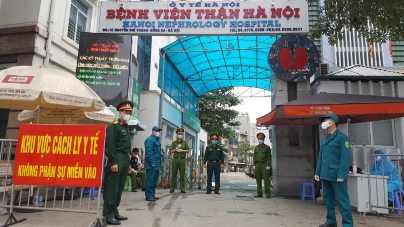 Gỡ bỏ phong tỏa tại Bệnh viện Thận Hà Nội từ chiều ngày 24/4