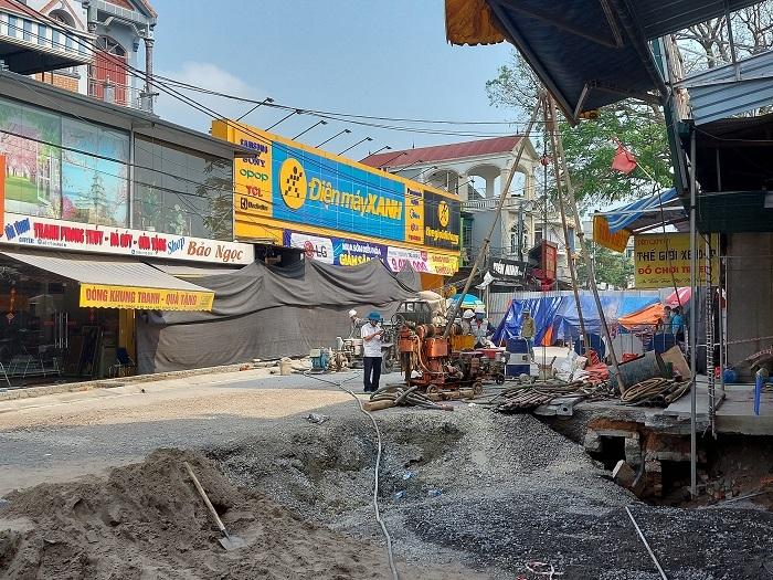 Khắc phục sự cố sụt đất tại huyện Chương Mỹ trước 30/4