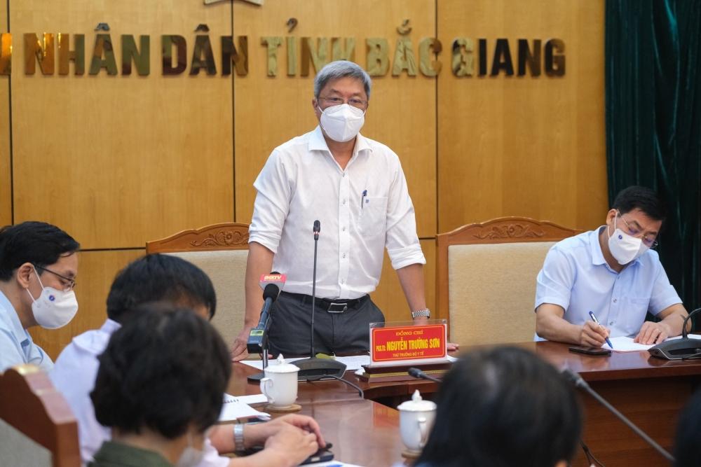 Thứ trưởng Nguyễn Trường Sơn: 4 việc Bắc Giang phải làm ngay để phòng, chống dịch Covid-19