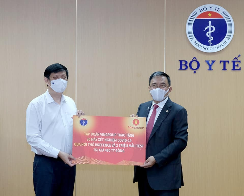 Vingroup đi đầu trong các hoạt động tài trợ phòng, chống dịch tại Việt Nam