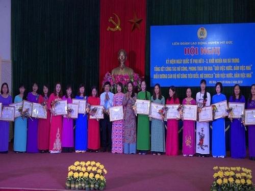 Phát huy vai trò hoạt động của Ban nữ công quần chúng