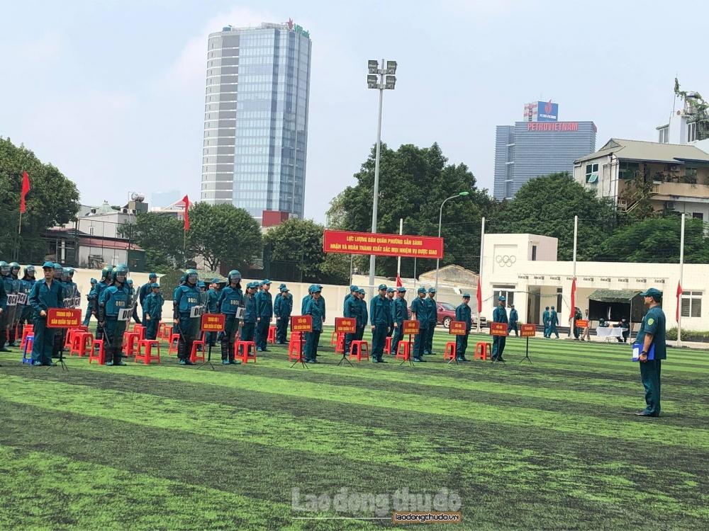 Phường Trung Liệt diễn tập chiến đấu phòng thủ năm 2020