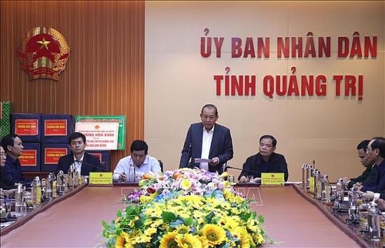 Phó Thủ tướng Trương Hòa Bình chỉ đạo khắc phục hậu quả thiên tai tại Quảng Trị