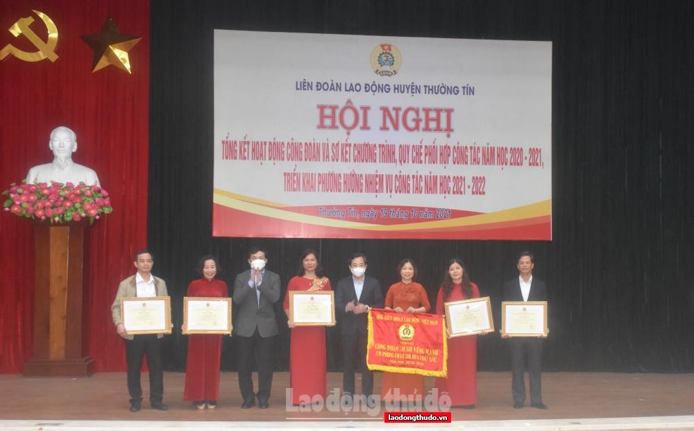 LĐLĐ huyện Thường Tín đẩy mạnh phong trào thi đua yêu nước trong cán bộ, nhà giáo, người lao động
