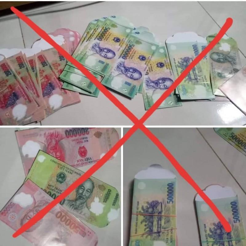 Bán bao lì xì in tờ tiền Việt Nam sẽ bị phạt nặng