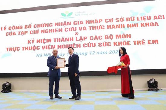 Tạp chí Nghiên cứu và Thực hành Nhi khoa chính thức gia nhập cơ sở dữ liệu ASEAN - ACI