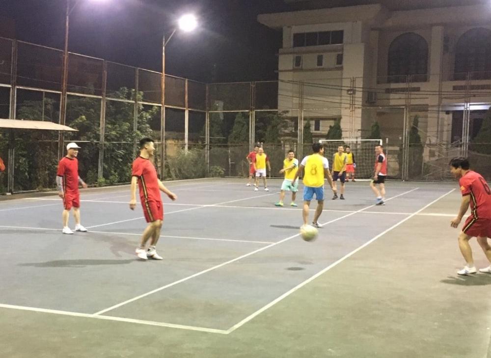 Giao lưu bóng đá Công đoàn khối Dân Đảng huyện Phú Xuyên