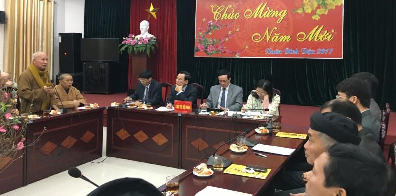 Ủy ban MTTQ TP Hà Nội gặp mặt chức sắc tôn giáo, nhà tu hành