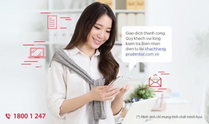 Prudential Việt Nam triển khai biên nhận thu phí điện tử