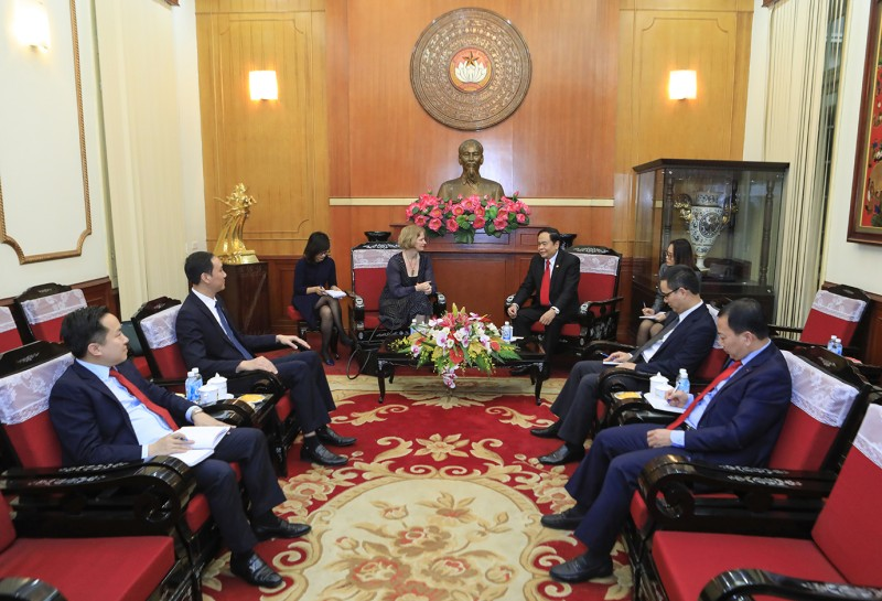 Chủ tịch Ủy ban TƯ MTTQVN Trần Thanh Mẫn tiếp Đại sứ Niu Di-lân