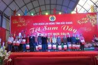 Lãnh đạo Đảng, Nhà nước tặng quà Tết, động viên công nhân lao động