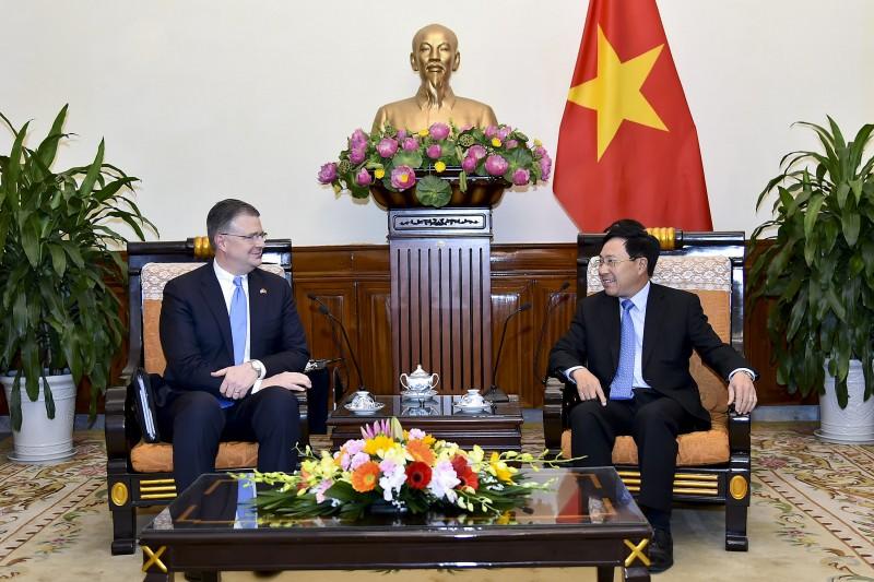 Phó Thủ tướng, Bộ trưởng Ngoại giao Phạm Bình Minh tiếp Đại sứ Hoa Kỳ