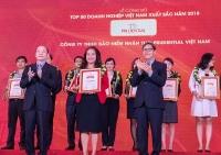 Prudential lần thứ ba được vinh danh 'Top 50 doanh nghiệp Việt Nam xuất sắc'