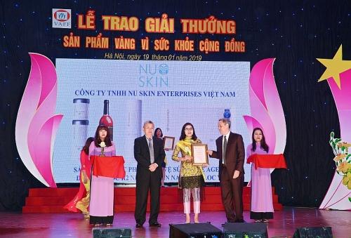 5 sản phẩm của Nu Skin Việt Nam đoạt 'Sản phẩm vàng vì sức khỏe cộng đồng'