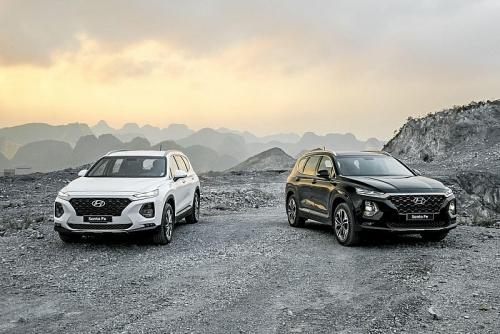 Hyundai Santa Fe tăng trưởng ấn tượng với 9.228 xe bán ra năm 2019