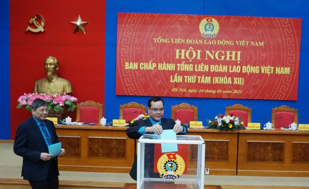 Đồng chí Nguyễn Phi Thường được bầu vào Ban Chấp hành Tổng Liên đoàn Lao động Việt Nam khóa XII