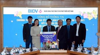 BIDV dành tặng 2.000 suất quà Tết cho công nhân lao động khó khăn