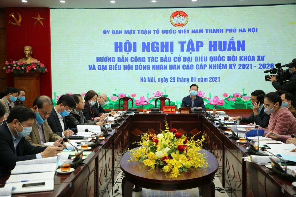 Hà Nội: Tập huấn công tác bầu cử đại biểu Quốc hội khóa XV và đại biểu Hội đồng nhân dân các cấp